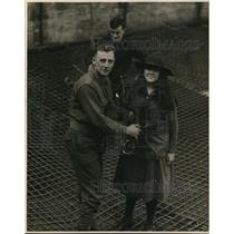 1920 Press Photo Dorothy Mills, twelve year old Girl Scout