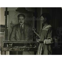 1921 Press Photo Clara G Perry portrait of Pertinax French journalist