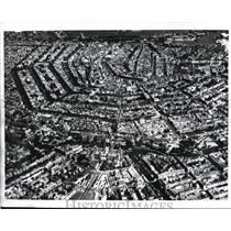 1970 Press Photo The aerial view of Amsterdam with its canals