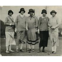 1925 Press Photo Mrs. Bruce Willowick, Mrs. J. P. Franle, Mrs. E. F. Bruescher
