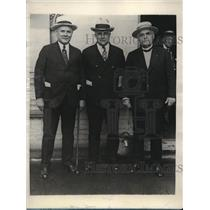 1930 Press Photo L-R, William Greon, John J. Davis & Frank Morrison