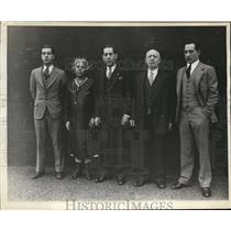 1930 Press Photo Vincent, Mary, Joe, Emanuel and Frank Falcaro will play bowling