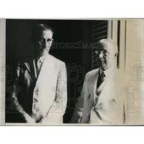1923 Press Photo Senor Lopez Ferrer & Cuban President Grau San Martin