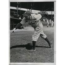 1935 Press Photo Victor Sorbell, right handed hurler of the Detroit Tigers