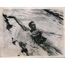 1936 Press Photo Adolf Kiefer, American backstroke speedster - nes24184