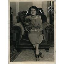 1922 Press Photo Miss Mildred Stonefamous violinist, Mischa Elman's fiance