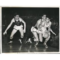 1941 Press Photo Vincent Capraro, All Lowman, Landon Buchanan Basketball C.C.N.Y