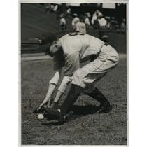 1935 Press Photo Marvin Owen, star third baseman of the Detroit Tigers