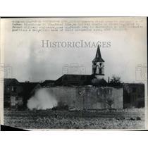 1946 Press Photo Destruction of German blockhouse Siegfried Line by French Army