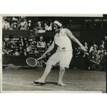 1929 Vintage Photo Miss Helen Jacobs drives ball down line Wimbledon