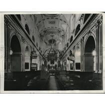 1938 Press Photo The Ornate Decor of the Basilica in Quebec, Canada