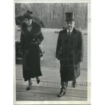 1933 Press Photo Mr.& Mrs. Katsuji Debuchi at Coolidge Memorial Service