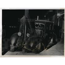 1947 Photo Robert Crawford crashes his 1937 Terraplane auto into pole