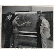 1932 Photo Missouri Tiger Coaches Talk Strategy with Head Coach Carideo