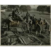 1922 Press Photo Cambridge Undergraduate Rovers prepares for the Prince of Wales