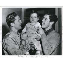 1957 Press Photo Boxers Family