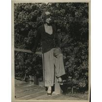 1930 Press Photo Three piece beach pajama for Miami beach setting