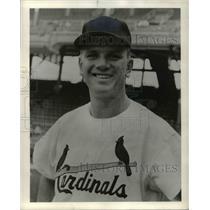 1963 Press Photo Gene Green, St. Louis Cardinals Baseball Player