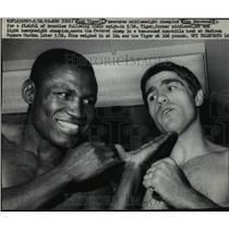 1969 Press Photo Dick Tiger & Nino Benvenuti to Fight