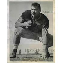 1943 Press Photo Tackle Art McCaffray, College of Pacific Football Player
