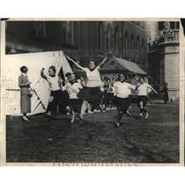 1924 Press Photo Embryo School training at Hunter College New York. - nes24441