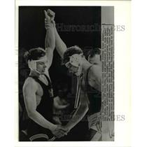 Press Photo Larry Owings beats Gable in NCAA Championship bout