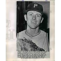1985 Press Photo Dick Stuart, Pittsburgh Pirates Baseball Team First Baseman