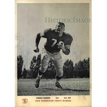 1960 Press Photo Charles Krueger of San Francisco Forty Niners