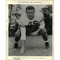1957 Press Photo John Guzik of the University if Pittsburg