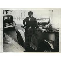 1933 Press Photo Sydney Franklin American winner Madrid Bullfight Paris France