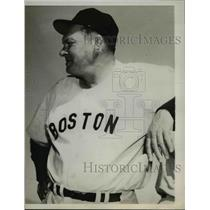"""1962 Press Photo Manager Mike """"Pinky"""" Higgins, Boston Red Sox Baseball Team"""