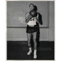 1960 Press Photo Center Neal Brockmeyer, Stanford University Basketball Player