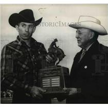 1958 Press Photo Jim Shoulders won the best all around cowboy title