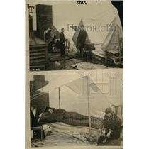 1916 Press Photo Hotel Lenoz of Houston with tents on its roof