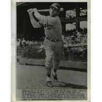 1941 Press Photo Estel Crabtree, St. Louis Cardinals Baseball Team