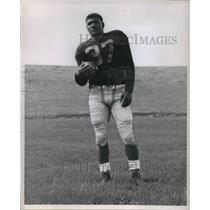 1957 Press Photo Gary Wilbur Junior Fullback 175 5'10 San Pablo California