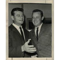 Press Photo Football Players Norm Van Brocklin and Hugh McElhenny