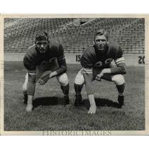 1957 Press Photo William & Robert Carey, plays ends at Michigan State University