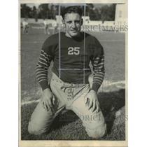 1935 Press Photo Tackle Larry Lutz, University of California Football Player