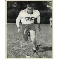 1957 Press Photo Harvey Goth, Sophomore Tackle, University of Nebraska Football