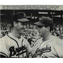 1959 Press Photo Starting Pitchers Carleston Willey & Danny McDevitt