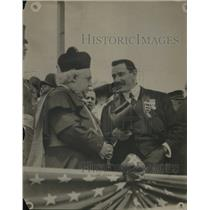 1909 Press Photo Msgr Lavalle & Comptroller Metze in France
