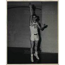 1960 Press Photo Bill Bond, Stanford University Basketball Team Forward