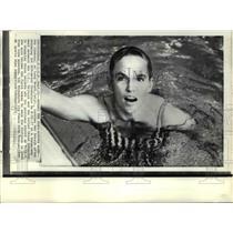 1971 Press Photo Mark Ann Simmons of Long Beach California