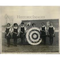 1928 Press Photo Philadelphia Pa Temple U archery, M Taylor,H Lovelidge,