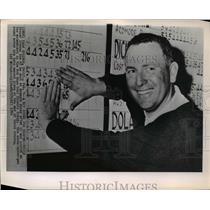 1966 Press Photo Bill Casper at Palm Springs, Calif Bob Hope Classic, 2nd place