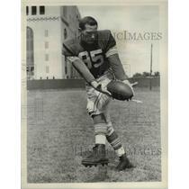 1953 Press Photo Bob Joslin, co-captain of the Ohio State Buckeyes
