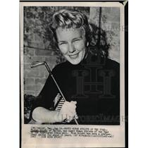 1966 Press Photo Mickey Wright Woman Athlete of the Year