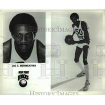 Press Photo New York Knicks Joe C. Meriweather