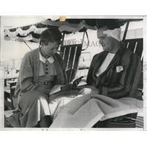 1934 Press Photo Santa Barbara Calif Mr & Mrs Ed Griffith ex football player